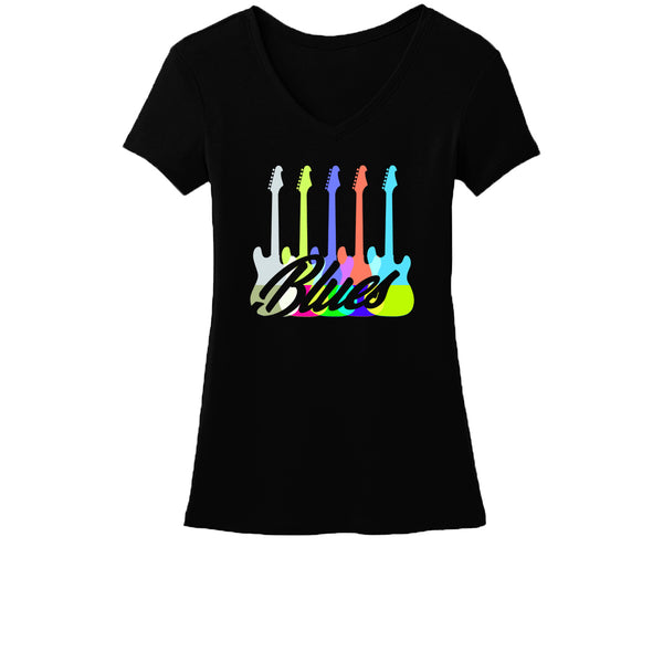 Chromatic Blues V-Neck (Women)