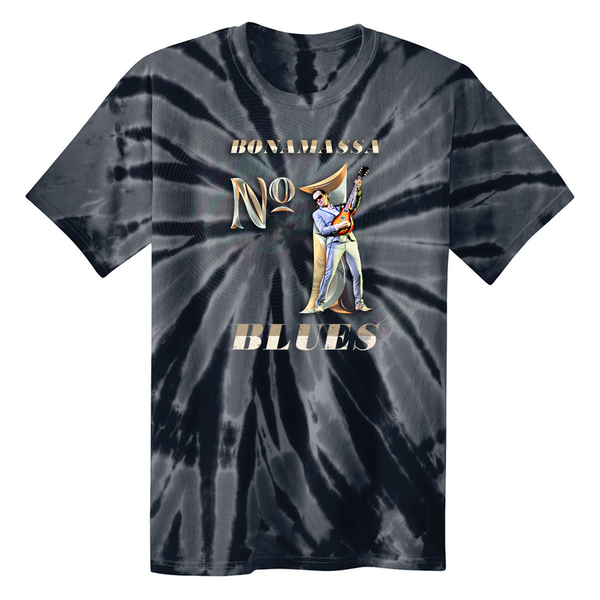 Blues Number One T-Shirt Tie Dye T-Shirt (Unisex) - Black