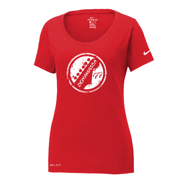 Vintage Headstock Nike Dri-FIT Scoop Neck T-Shirt (Women) - Red