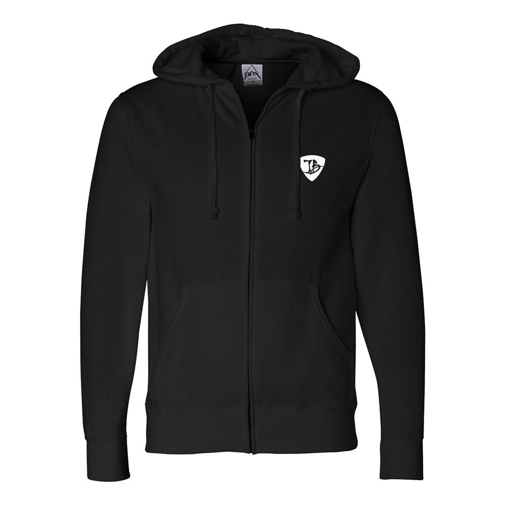 JB Vintage Zip-Up Hoodie (Unisex) - Black