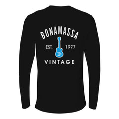 Vintage Guitar Long Sleeve (Men) - Black