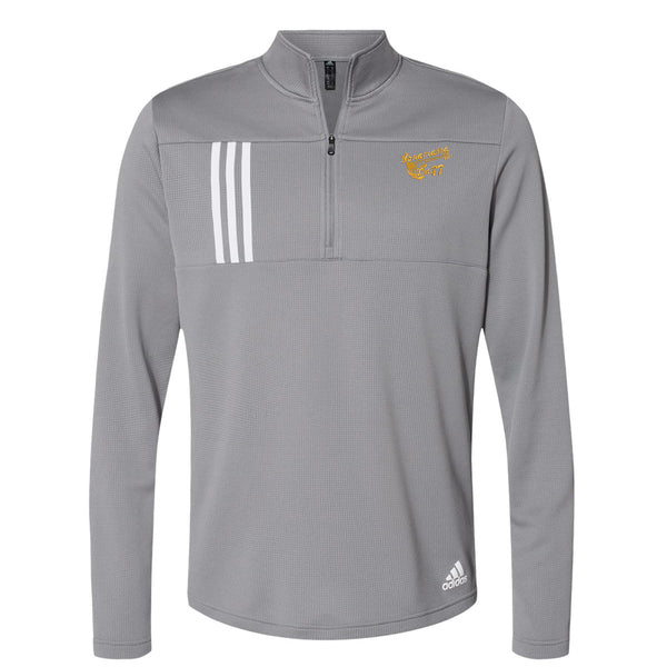 Vintage Meets Blues Adidas Double Knit 1/4 Zip Pullover (Men) - Grey