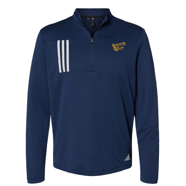 Vintage Meets Blues Adidas Double Knit 1/4 Zip Pullover (Men) - Navy