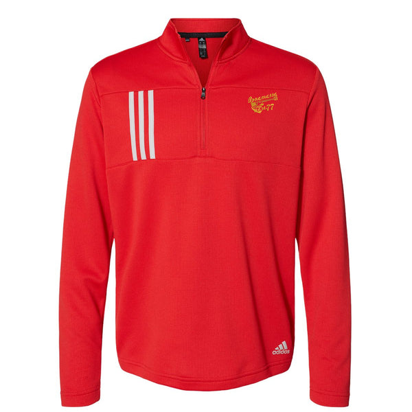 Vintage Meets Blues Adidas Double Knit 1/4 Zip Pullover (Men) - Red