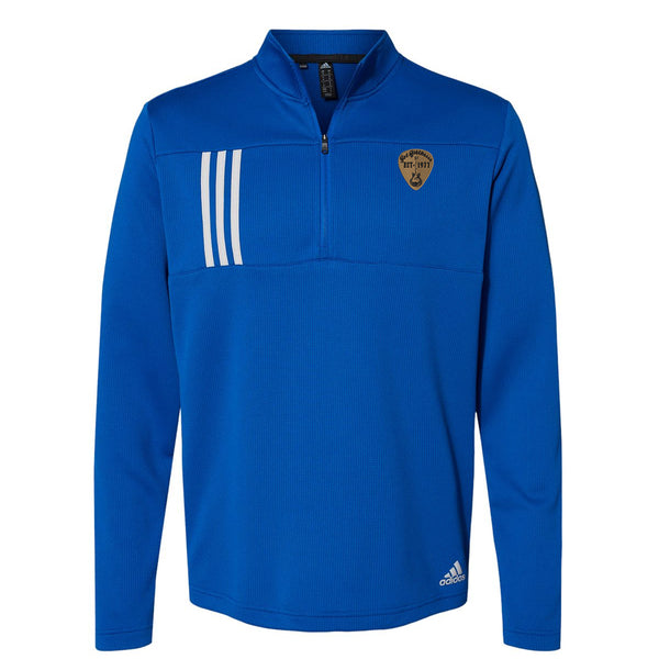 Vintage Pick Adidas Double Knit 1/4 Zip Pullover (Men) - Royal