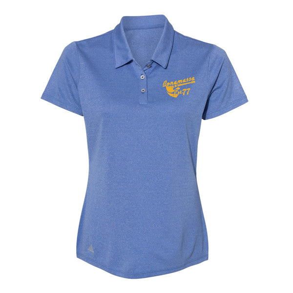 Vintage Meets Blues Adidas Sport Polo (Women) - Royal Heather