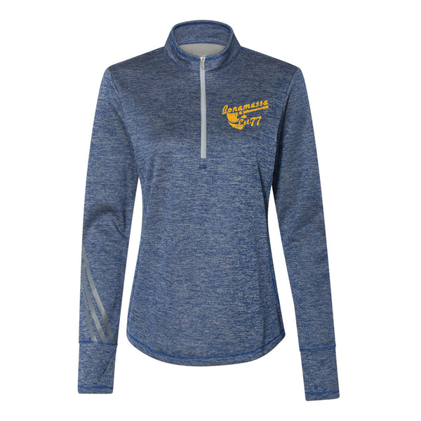 Vintage Meets Blues Adidas Quarter Zip Pullover (Women) - Royal Heather