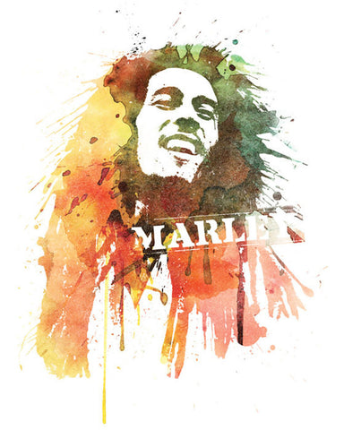 Bob Marley - Water Color Portrait (Unisex)