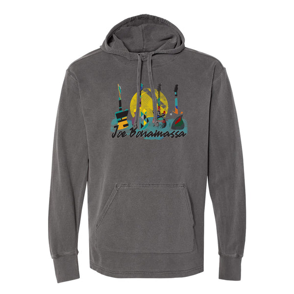 Watercolor Blues Comfort Colors Hooded Pullover (Unisex) - Pepper