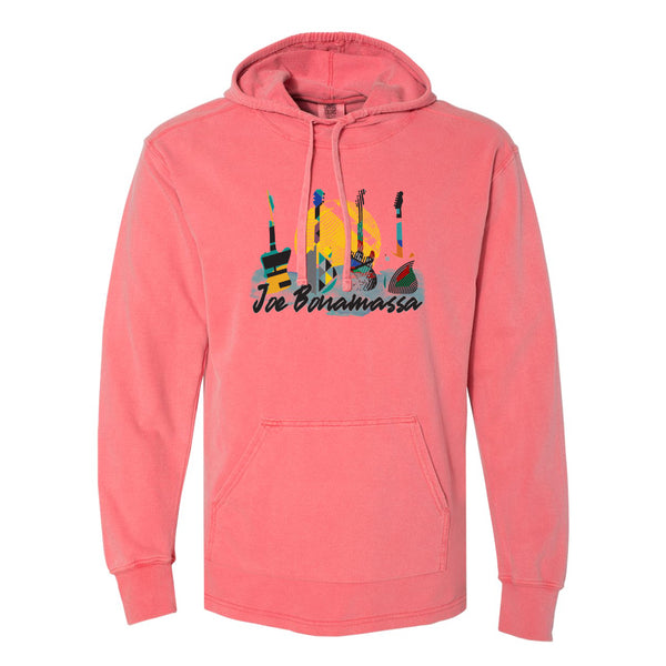 Watercolor Blues Comfort Colors Hooded Pullover (Unisex) - Watermelon