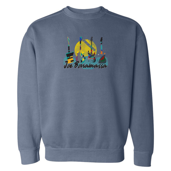 Watercolor Blues Comfort Colors Sweatshirt (Unisex) - Blue Jean