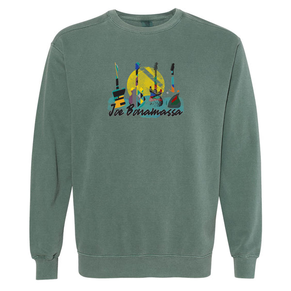 Watercolor Blues Comfort Colors Sweatshirt (Unisex) - Spruce