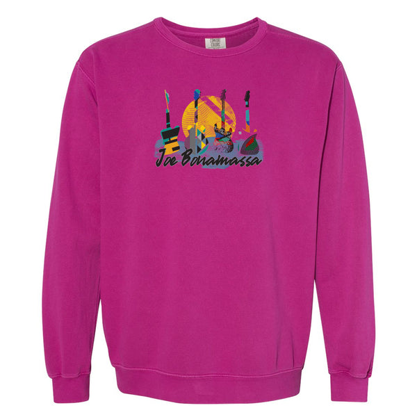 Watercolor Blues Comfort Colors Sweatshirt (Unisex) - Berry