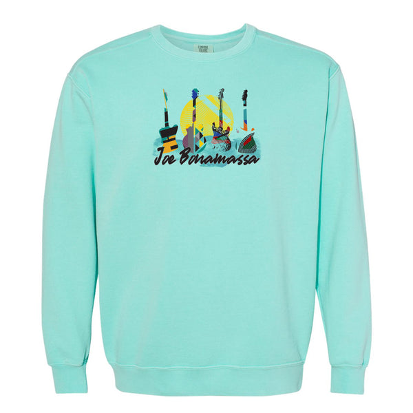 Watercolor Blues Comfort Colors Sweatshirt (Unisex) - Mint