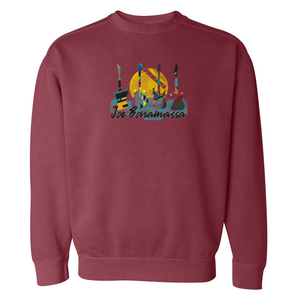 Watercolor Blues Comfort Colors Sweatshirt (Unisex) - Crimson