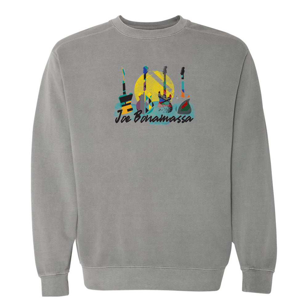 Watercolor Blues Comfort Colors Sweatshirt (Unisex) - Grey