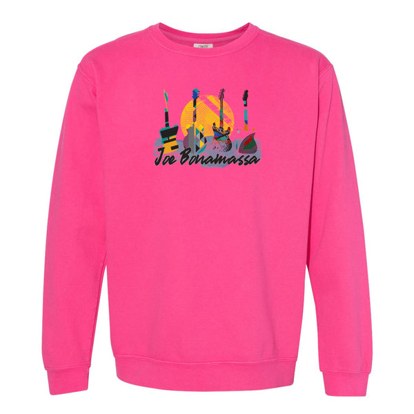 Watercolor Blues Comfort Colors Sweatshirt (Unisex) - Pink