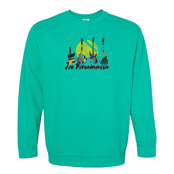 Watercolor Blues Comfort Colors Sweatshirt (Unisex) - Island Green