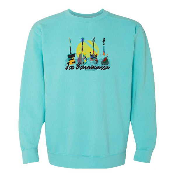 Watercolor Blues Comfort Colors Sweatshirt (Unisex) - Lagoon