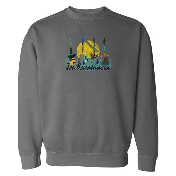 Watercolor Blues Comfort Colors Sweatshirt (Unisex) - Pepper