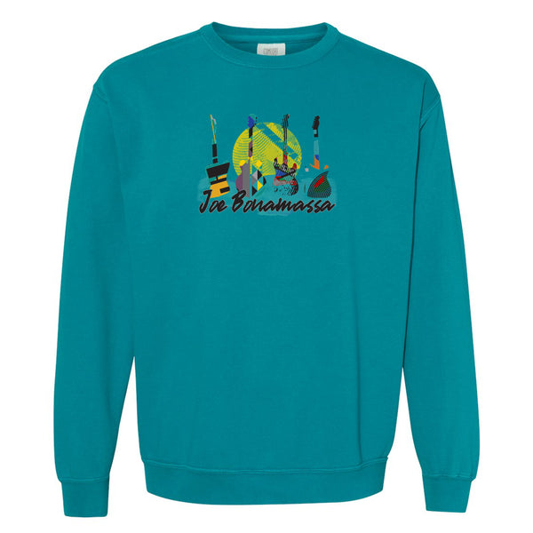 Watercolor Blues Comfort Colors Sweatshirt (Unisex) - Topaz