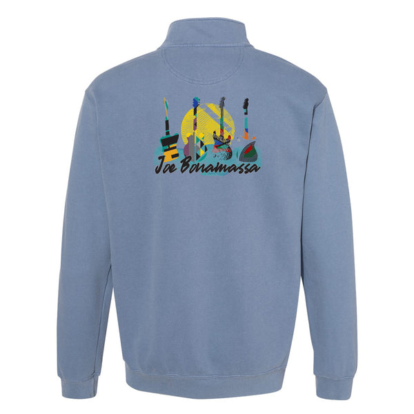 Watercolor Blues Comfort Colors 1/4 Zip Up (Unisex) - Blue Jean