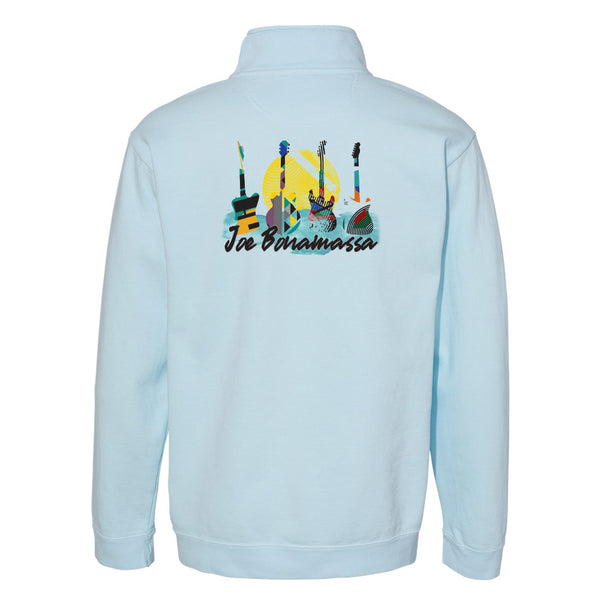 Watercolor Blues Comfort Colors 1/4 Zip Up (Unisex) - Chambray