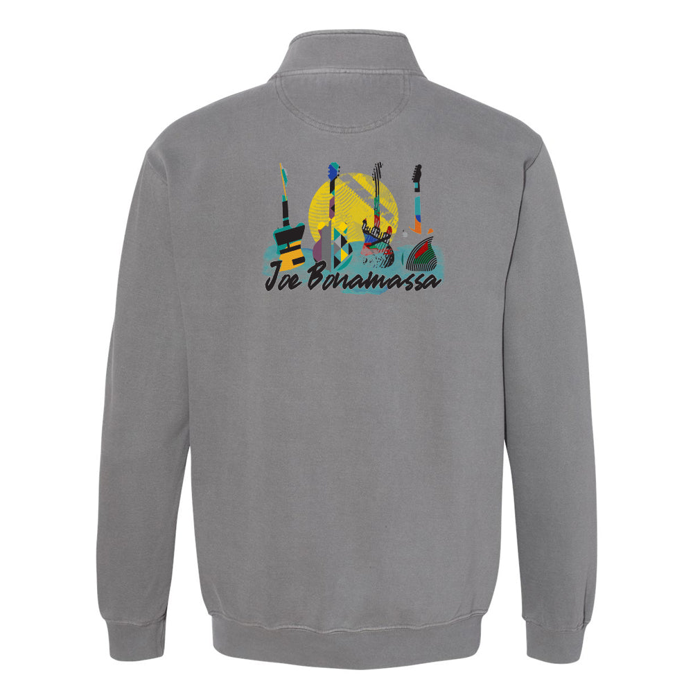 Watercolor Blues Comfort Colors 1/4 Zip Up (Unisex) - Grey