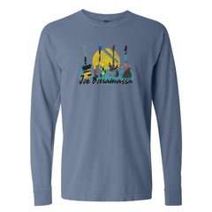 Watercolor Blues Comfort Colors Long Sleeve T-Shirt (Unisex) - Blue Jean