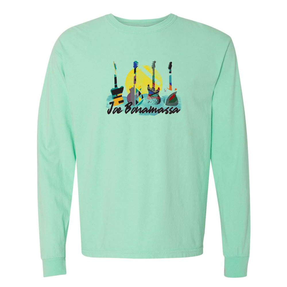 Watercolor Blues Comfort Colors Long Sleeve T-Shirt (Unisex) - Island Reef