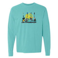 Watercolor Blues Comfort Colors Long Sleeve T-Shirt (Unisex) - Lagoon