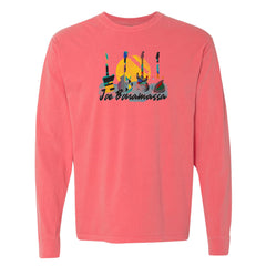Watercolor Blues Comfort Colors Long Sleeve T-Shirt (Unisex) - Watermelon