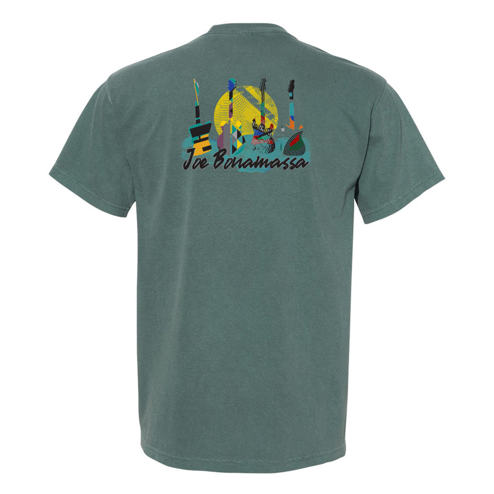 Watercolor Blues Comfort Colors Pocket T-Shirt (Unisex) - Spruce