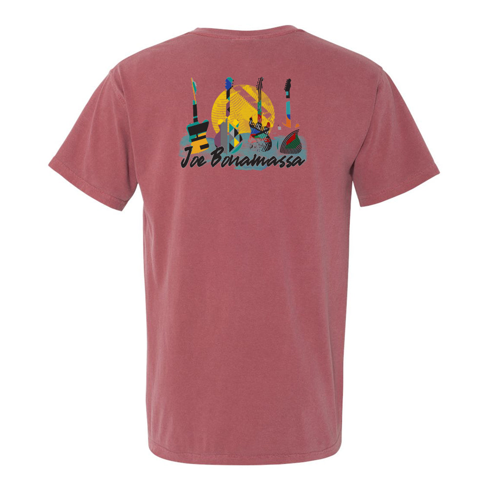 Watercolor Blues Comfort Colors Pocket T-Shirt (Unisex) - Brick