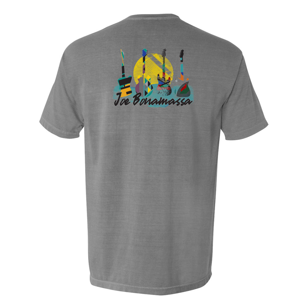 Watercolor Blues Comfort Colors Pocket T-Shirt (Unisex) - Grey