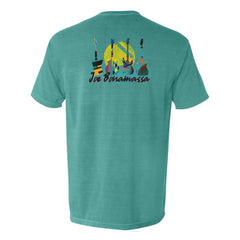 Watercolor Blues Comfort Colors Pocket T-Shirt (Unisex) - Seafoam