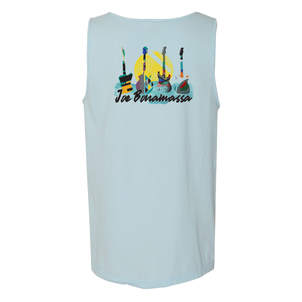 Watercolor Blues Comfort Colors Pocket Tank Top (Unisex) - Chambray