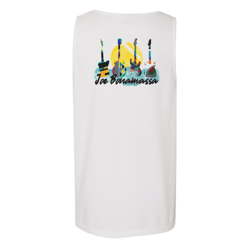 Watercolor Blues Comfort Colors Pocket Tank Top (Unisex) - White