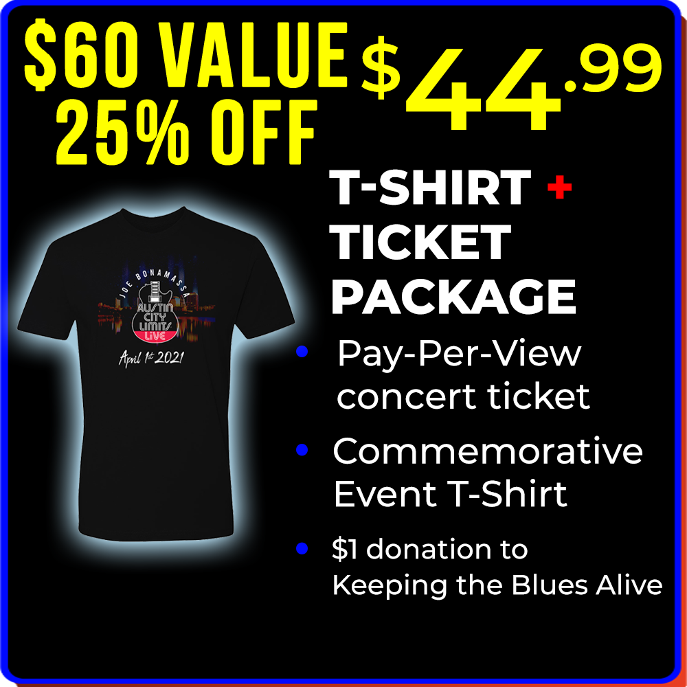 ACL Live Virtual Ticket & T-Shirt Package