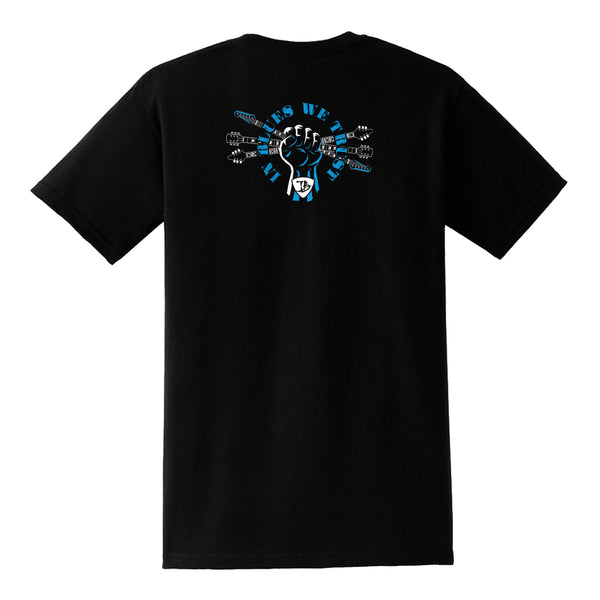 In Blues We Trust Fist Pocket T-Shirt (Unisex) - Black