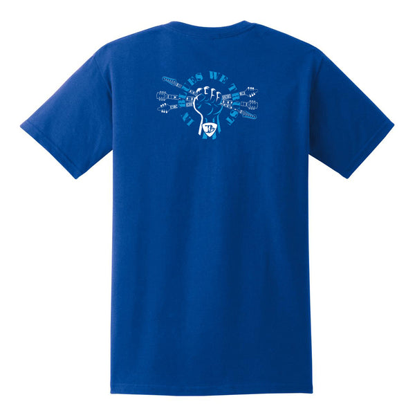 In Blues We Trust Fist Pocket T-Shirt (Unisex) - Royal