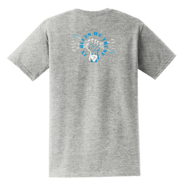 In Blues We Trust Fist Pocket T-Shirt (Unisex) - Grey