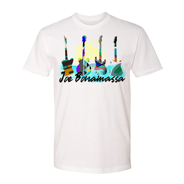 Watercolor Blues T-Shirt (Unisex) - White