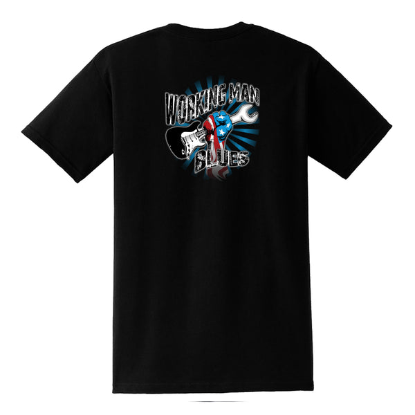Working Man Blues Pocket T-Shirt (Unisex) - Black