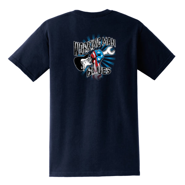 Working Man Blues Pocket T-Shirt (Unisex) - Navy