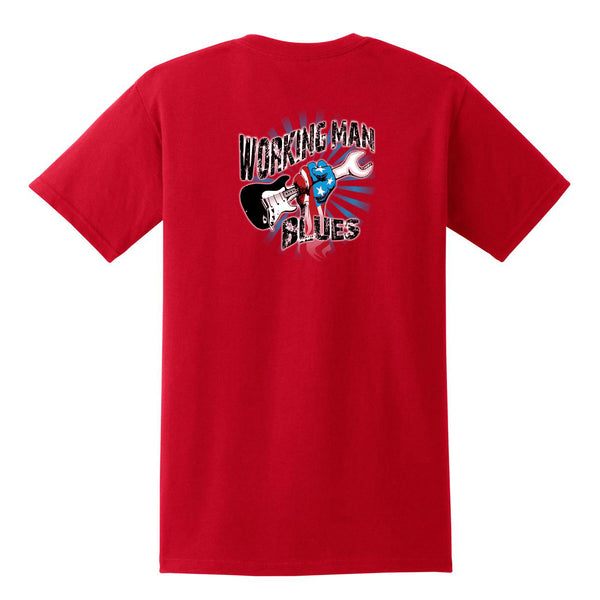 Working Man Blues Pocket T-Shirt (Unisex) - Red