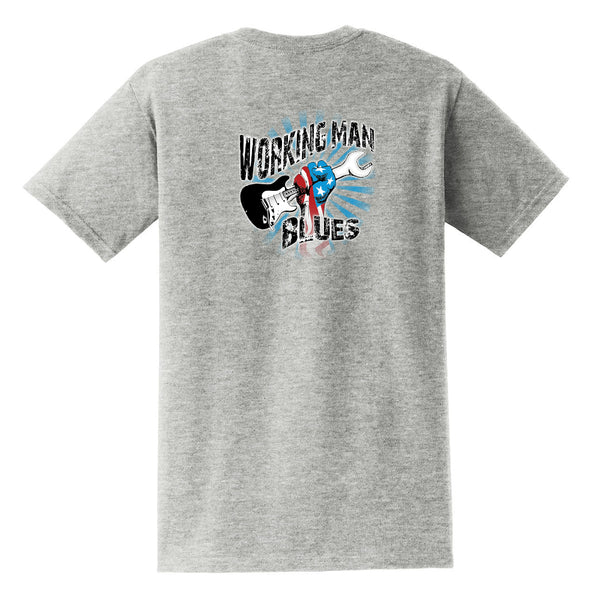 Working Man Blues Pocket T-Shirt (Unisex) - Grey
