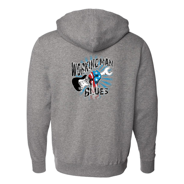 Working Man Blues Zip-Up Hoodie (Unisex) - Gunmetal