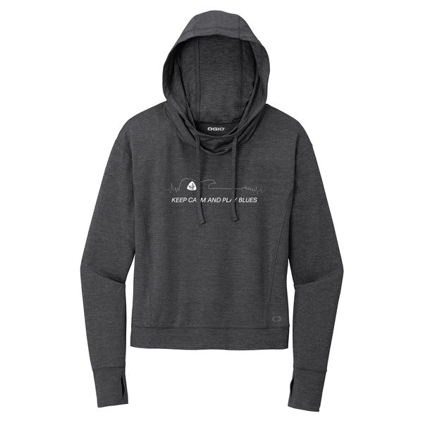 Keep Calm and Play Blues Ogio Hoodie (Women) - Black Heather