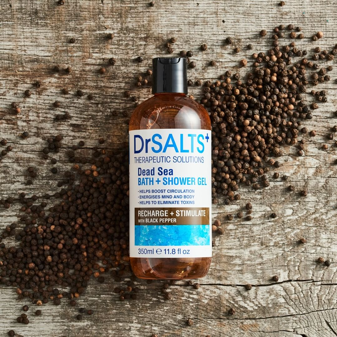 Dead Sea  Bath & Shower Gel  Recharge & Stimulate with Black Pepper 350ml
